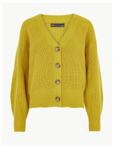 M&S Collection Cotton Rich Button Detailed Cardigan