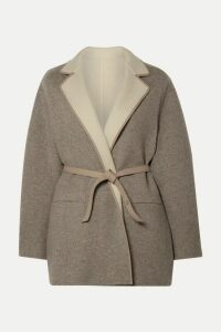 Loro Piana - Reversible Leather-trimmed Cashmere Jacket - Gray