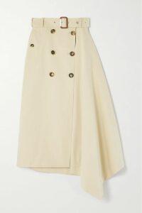 Matteau - Floral-print Cotton-poplin Maxi Dress - Blue