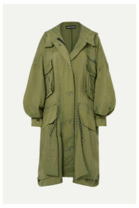 House of Holland - Oversized Ripstop Coat - Army green
