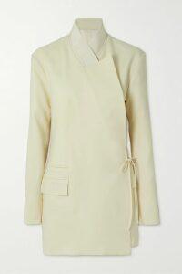 RIXO - Morgan Floral-print Linen And Silk-blend Mini Dress - Lilac