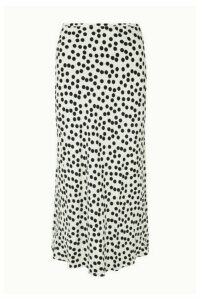 RIXO - Kelly Polka-dot Crepe Midi Skirt - White