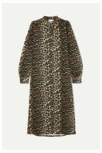 GANNI - Leopard-print Denim Dress - Leopard print