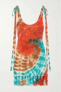 GANNI - Tiger-print Silk-blend Satin Top - Green