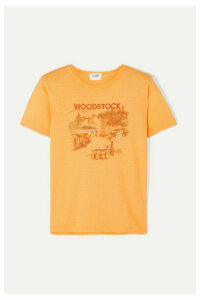 Solid & Striped - + Re/done Woodstock Printed Cotton T-shirt - Yellow