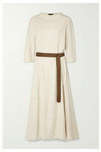 Albus Lumen - Taza Belted Cotton-blend Terry Midi Dress - Cream
