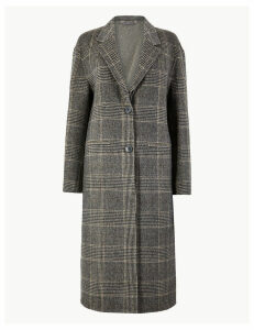 M&S Collection Checked Double Faced Coat