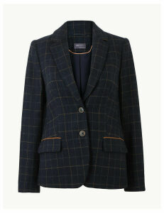 M&S Collection Checked Blazer