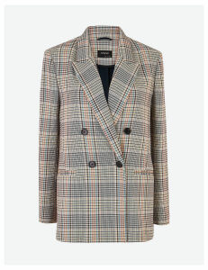 Autograph Checked Double Breasted Blazer