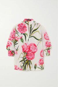 Versace - Printed Stretch-jersey Turtleneck Top - Black