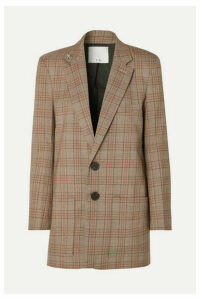 Tibi - James Embellished Checked Woven Blazer - Brown