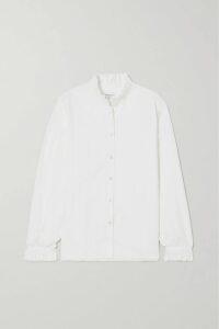 Alexander Wang - Snip Zip-embellished Frayed Denim Mini Skirt - Blue
