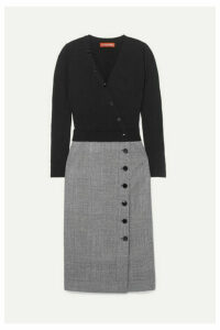 Altuzarra - Stamford Wool And Prince Of Wales Checked Wool-blend Dress - Black