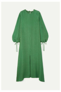 Olivia von Halle - Margeaux Silk-jacquard Maxi Dress - Emerald