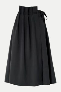 LE 17 SEPTEMBRE - Asymmetric Woven Wrap Skirt - Midnight blue
