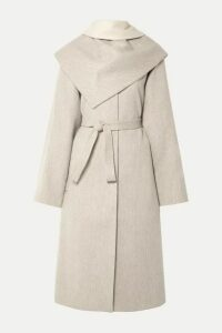 LE 17 SEPTEMBRE - Convertible Belted Wool-blend Coat - Off-white