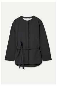 LE 17 SEPTEMBRE - Autumn Belted Woven Shirt - Midnight blue