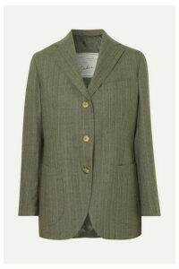 Giuliva Heritage Collection - Andrea Pinstriped Wool Blazer - Dark green
