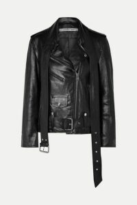 Alexander Wang - Martingale Belted Leather Jacket - Black