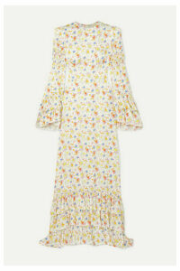 The Vampire's Wife - Tiered Floral-print Crepe Maxi Dress - Ivory