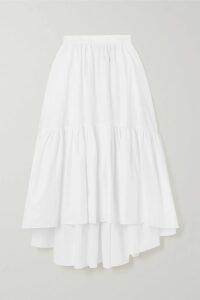 GANNI - Floral-print Plissé-georgette Midi Dress - Ivory