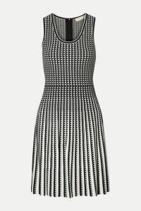 MICHAEL Michael Kors - Pleated Stretch-knit Dress - Black