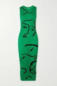 Evi Grintela - Natalie Ruffled Cotton-poplin Midi Dress - Red