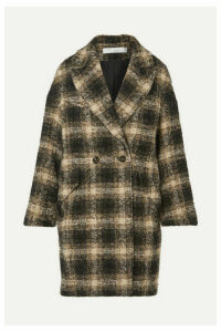 IRO - Karsh Double-breasted Checked Bouclé Coat - Black