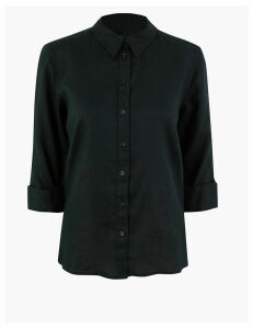 M&S Collection Pure Linen Button Detailed Shirt