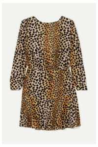 RIXO - Kyla Leopard-print Silk Crepe De Chine Mini Dress - Leopard print
