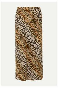 RIXO - Kelly Leopard-print Silk Crepe De Chine Midi Skirt - Leopard print