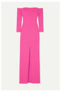 Solace London - Odine Off-the-shoulder Stretch-crepe Maxi Dress - Fuchsia