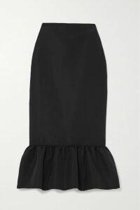 GANNI - Oversized Tiger-print Denim Jacket - Green