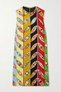Etro - Printed Stretch-jersey Dress - Black