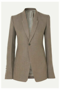 Rick Owens - Wool-crepe Blazer - Light gray
