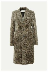 SAINT LAURENT - Leopard-print Jacquard Coat - Beige