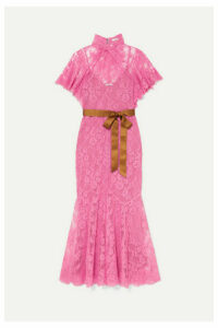 Erdem - Celestina Satin-trimmed Cotton-blend Lace Gown - Pink