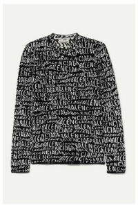 Balenciaga - Intarsia-knit Sweater - Black