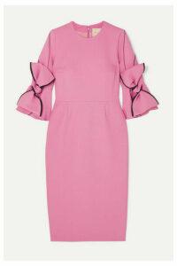 Roksanda - Lavete Bow-embellished Crepe Midi Dress - Pink