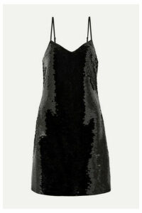 MICHAEL Michael Kors - Paillette-embellished Jersey Mini Dress - Black