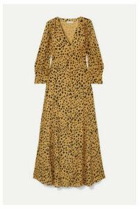 Nicholas - The Front Leopard-print Silk-crepe Maxi Dress - Leopard print