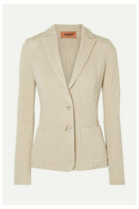 Missoni - Crochet-knit Wool-blend Blazer - Beige