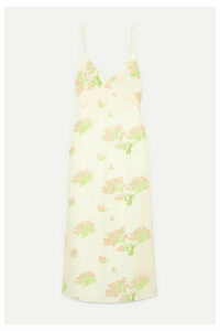 BERNADETTE - Floral-print Silk Crepe De Chine Midi Dress - Cream