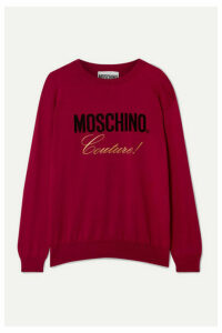 Moschino - Embroidered Intarsia Cotton Sweater - IT38