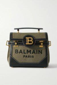 Moschino - Printed Denim Mini Dress - Red
