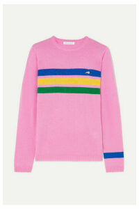 Bella Freud - Daytona Sparkle Metallic Striped Cashmere-blend Sweater - Pink