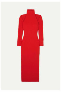 Solace London - Grayson Cutout Stretch-crepe Midi Dress - Red