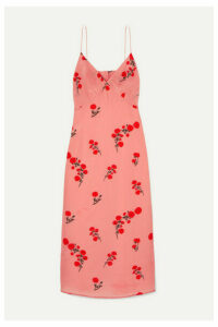 BERNADETTE - June Floral-print Silk Crepe De Chine Midi Dress - Pink