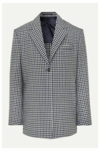 Wright Le Chapelain - Checked Wool Blazer - Midnight blue