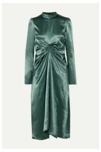 Sies Marjan - Nara Ruched Satin Dress - Gunmetal